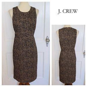 NWT J. Crew Cheetah Print Sleeveless Dress. Size 4